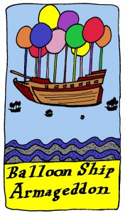 Balloon Ship Armageddon Tarot Card copyright 2015 by Michael D. Smith